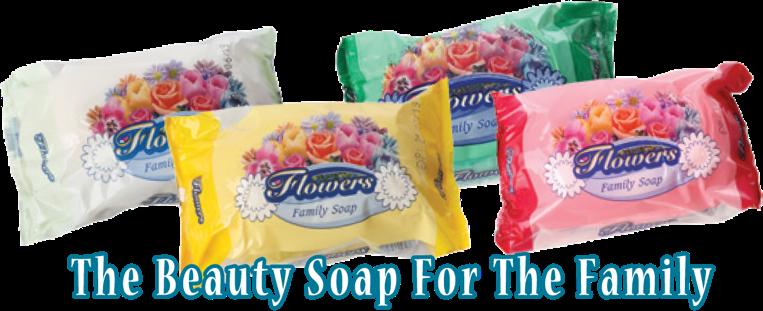 Flowers family soap