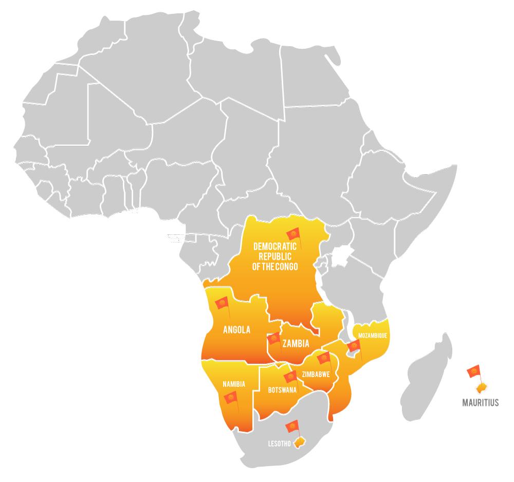 Africa Sun Oil Map
